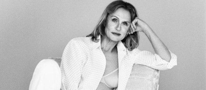 Lauren Hutton, aos 73 anos, como estrela da nova campanha de lingerie da Calvin Klein