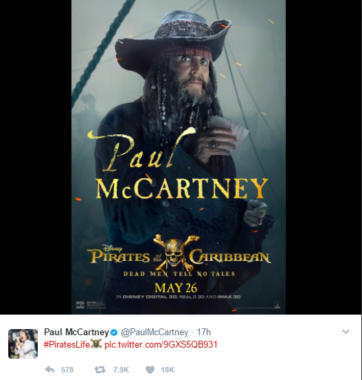 A Vingança de Salazar | Divulgado cartaz com Paul McCartney — Piratas do Caribe