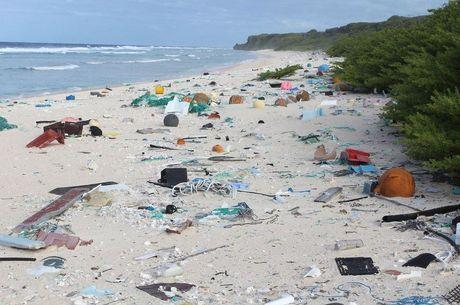 Henderson fica no caminho de uma corrente marinha e recebe lixo jogado de navios e da costa oeste da América do Sul