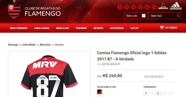 7ec2f71296 Flamengo vende camisa em resposta a Sport sobre polêmico caso de 1987