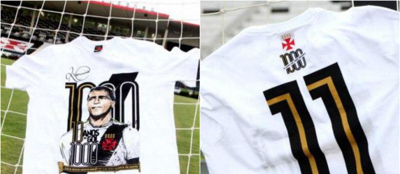 382352fa54 Camisas em homenagem aos 1000 gols do artilheiro Romário serão vendidas  pelo Vasco
