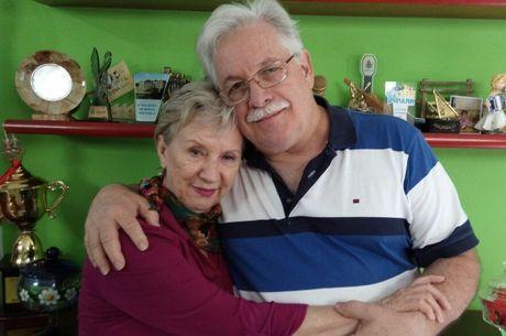 Meire Galvão e o marido Mario Campanha