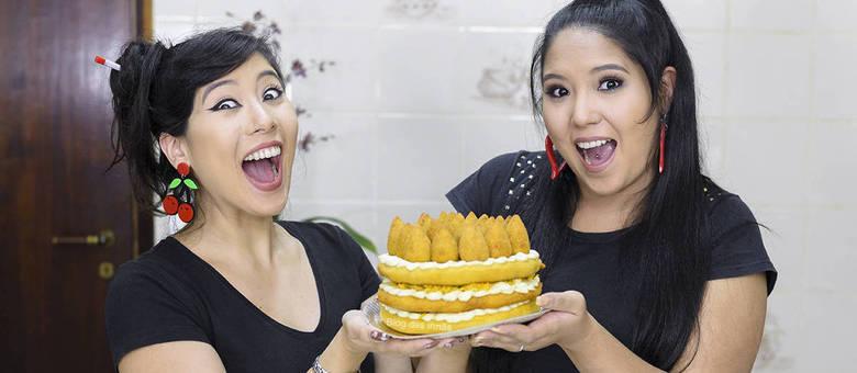 Marceli e Jéssica Cruz criaram a sobremesa inusitada e ganharam as redes