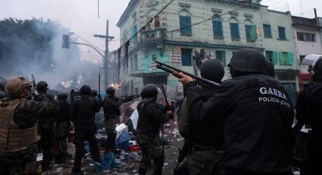 Cracolândia, na região central de SP, foi esvaziada em operação comandada pela Polícia Civil