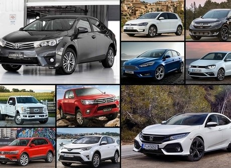 Veja os 10 veículos mais vendidos do mundo no primeiro trimestre