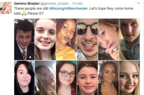 No Twitter, circulam fotos de pessoas desaparecidas