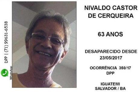 Nivaldo foi visto pela última vez no estacionamento do HiperBompreço da avenida ACM, em Salvador