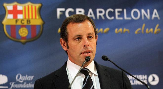 Sandro Rosell, quando presidente do Barcelona