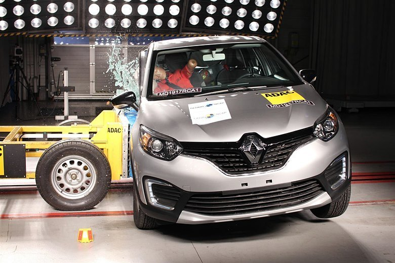 Renault Captur é bem avaliado em teste de colisão