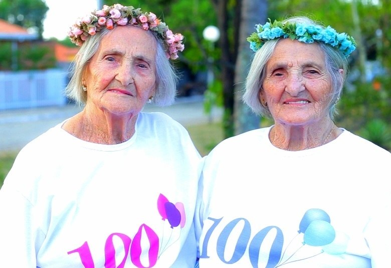 Resultado de imagem para Gugu conta a história das gêmeas mais idosas do Brasil