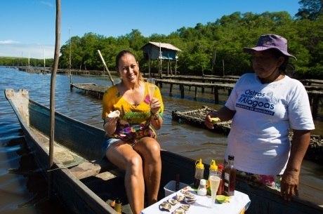 Renata Alves conheceu criadora de ostras em reportagem especial