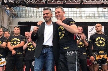 Frederico Lapenda e Rudimar Fedrigo, criador da Chute Boxe