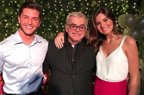 Klebber Toledo, Walcyr Carrasco e Camila Queiroz