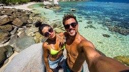 Aline Riscado e Felipe Roque exibem corpaços ()