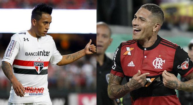 Cueva e Guerrero são companheiros de seleção peruana, mas estarão em lados opostos neste domingo