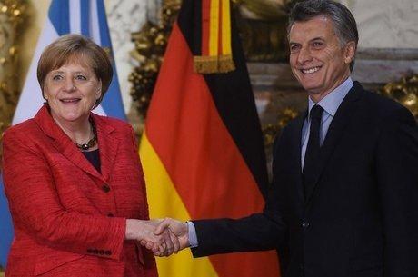 """Angela Merkel disse que Macri """"abriu a Argentina"""" e que com ele """"as condições da economia argentina têm agora mais credibilidade"""""""