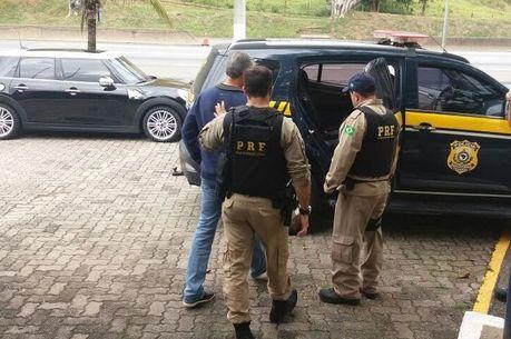 Marcelo Traça foi preso na BR-116, em Barra Mansa