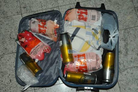 Bagagem em que a droga foi encontrada no aeroporto de Guarulhos
