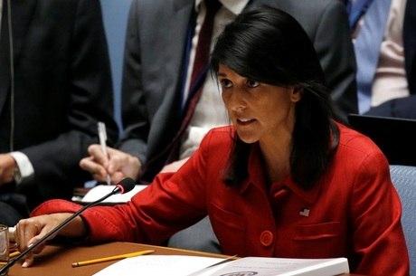 Nikki  Haley disse que os EUA irão propor novas sanções da ONU
