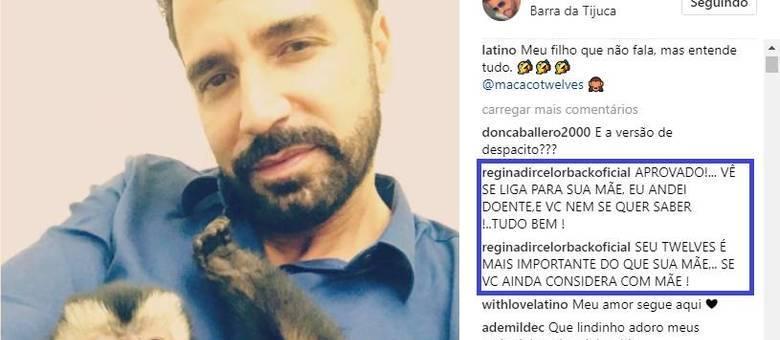 Latino leva puxão de orelha da mãe nas redes sociais