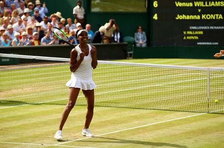 1e6dbc652d0 Venus Williams está na final do torneio de Wimbledon