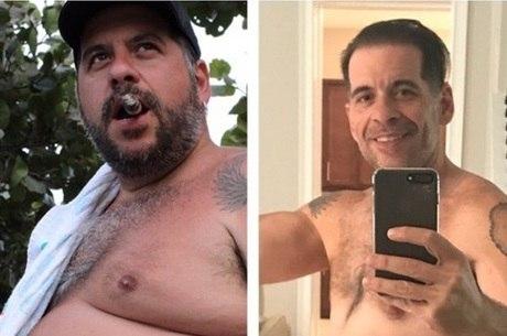 Leandro Hassum postou foto de seu antes e depois