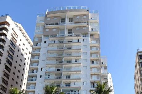 Suposto apartamento de Lula está localizado no 16º andar do edifício Solaris, na praia das Astúrias, no Guarujá (SP)