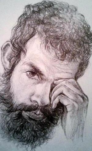 O artista Lenonn em autorretrato