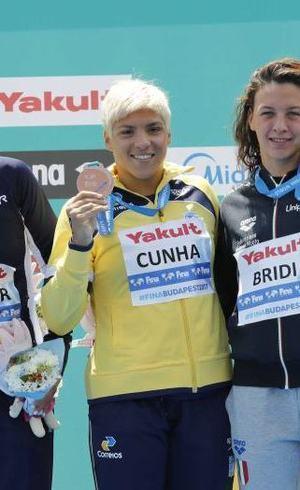 Ana Marcela foi um dos destaques da prova no Mundial na Hungria