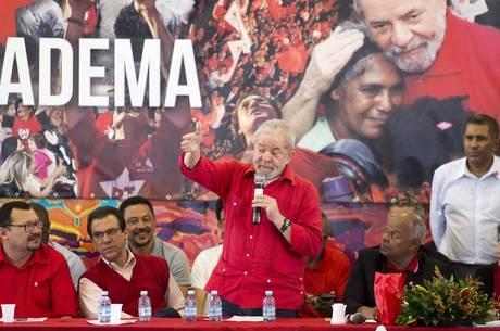 Lula durante discurso na semana passada
