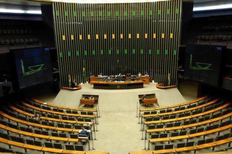 Plenário da Câmara estava vazio na última sexta-feira (24). Ao todo, 24 deputados estavam na Casa