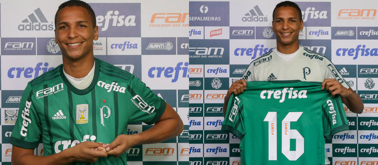 Novo camisa 16 do Palmeiras, Deyverson foi apresentado na tarde desta segunda-feira (17) na Academia de Futebol