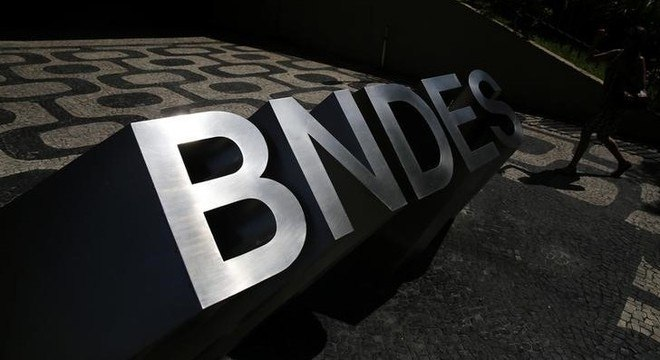 Entrada do BNDES, no Rio de Janeiro