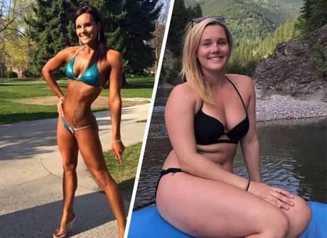 Mulher viraliza após abandonar o abdômen trincado e ganhar 11 kg