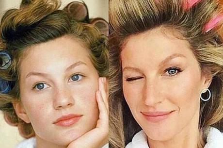 "Gisele postou foto antiga e brincou: ""Dona Florinda desde 1994"""