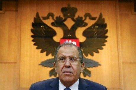 Ministro das Relações Exteriores russo, Sergei Lavrov, em Moscou