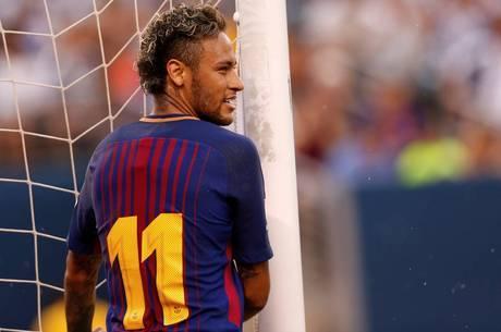 Neymar relembra tempos de Barcelona em festa de Davi Lucca