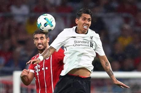Resultado de imagem para Liverpool faz 3 a 0 no Bayern de Munique no Allianz Arena em amistoso