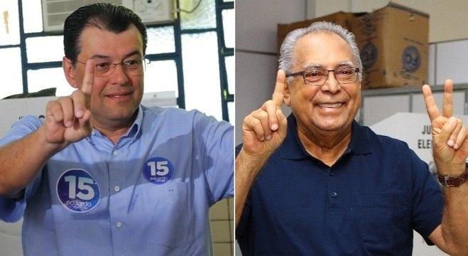 Eduardo Braga (PMDB) e Amazonino Mendes (PDT) foram os mais votados no 1º turno