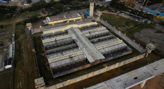 Imagem aérea do Centro de Detenção Provisória de Guarulhos, em São Paulo