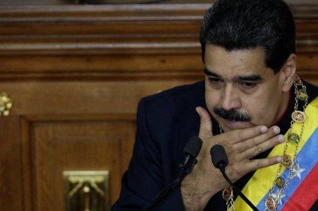 Presidente da Venezuela Nicolás Maduro discursa durante sessão da Assembleia Nacional Constituinte, em Caracas