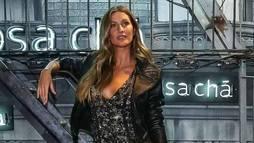 No Brasil, Gisele Bündchen rouba a cena em lançamento de coleção ()