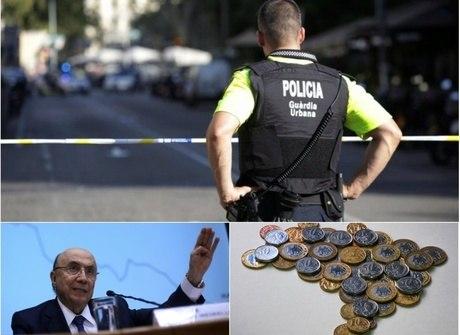 Atentado na Espanha e rombo nas contas públicas foram destaques