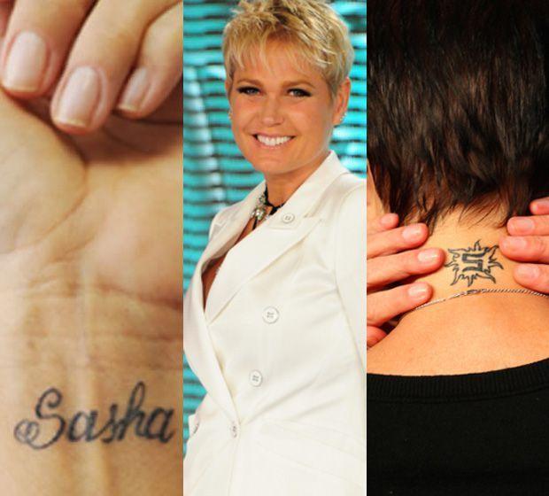 b3a173b0bb462 A apresentadora Xuxa Meneghel possui duas discretas tatuagens em homenagem  à filha