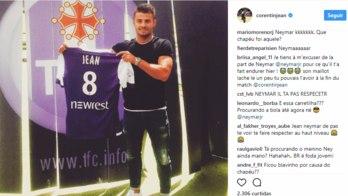 Francês que tomou drible humilhante de Neymar vira alvo de provocações na internet (Reprodução/Instagram)
