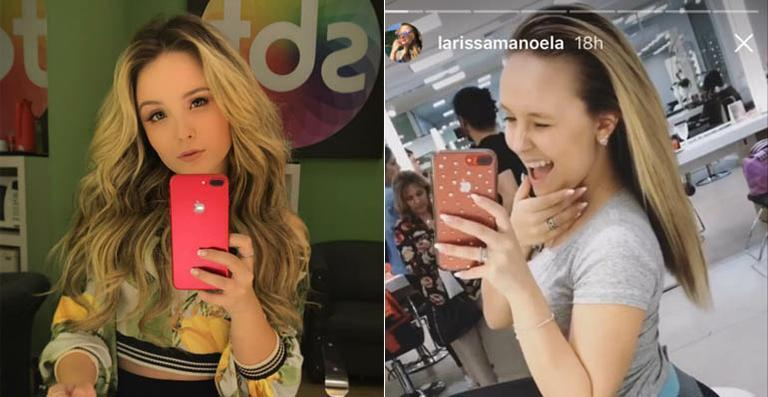 Larissa Manoela tira megahair e mostra o cabelo natural