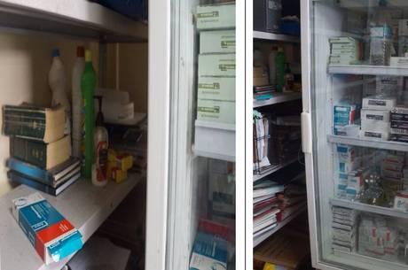Garrafa d'água e embalagem de suco eram guardados em refrigerador dos medicamentos no Amapá