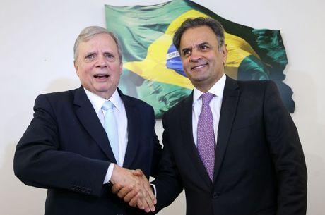 Tasso Jereissati e Aécio Neves, líderes do PSDB no governo