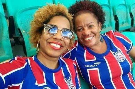 Edna e filha Dandara são fanáticas pelo Bahia
