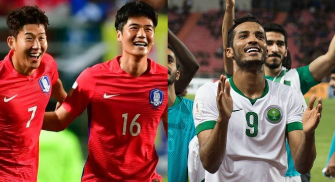Coreia do Sul e Arábia Saudita estão garantidas no Mundial